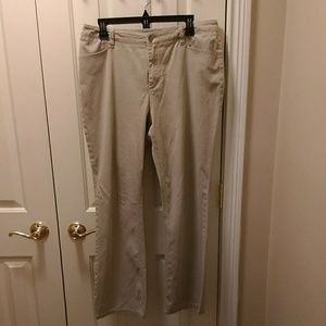 Chico's tan pants sz 2 (equal to sz 12)